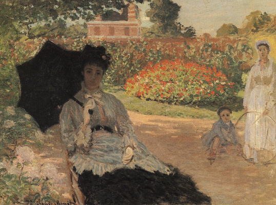 Claude Monet. Camille Monet in the garden