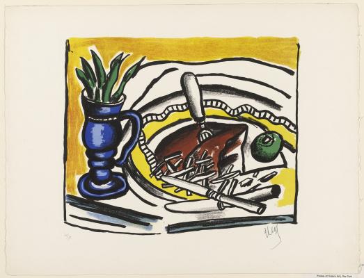 Fernand Leger. Still life with blue vase