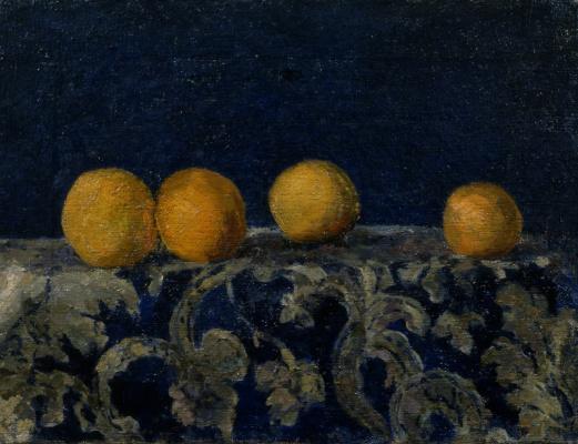 Mikhail Larionov. Still life with oranges