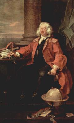 William Hogarth. Portrait of captain Thomas Karama