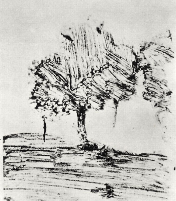 Edgar Degas. Two trees