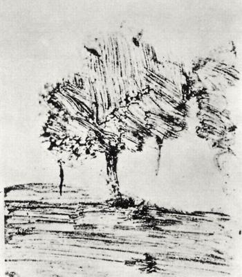 Edgar Degas. Two trees