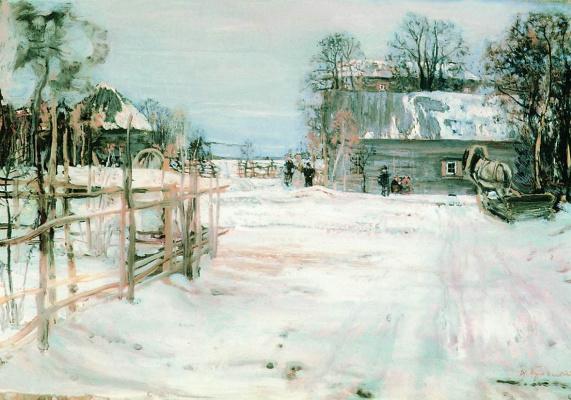 Исаак Израилевич Бродский. Зимка. 1910
