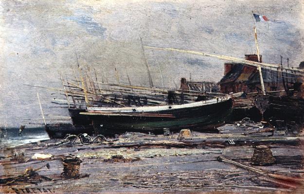 Alexey Petrovich Bogolyubov. Boats in Etretat