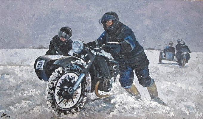 Dariya Zakharova. Bear rod. Winter Moto Rally
