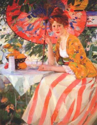Буехр. Девушка с зонтом