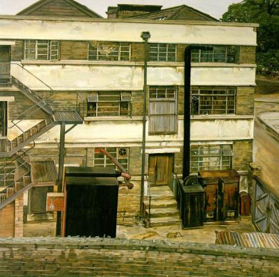 Люсьен Фрейд. Фабрика на севере Лондона