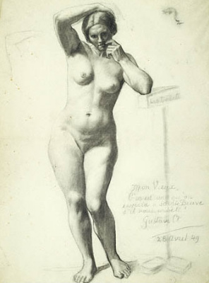 Gustave Courbet. Standing Nude