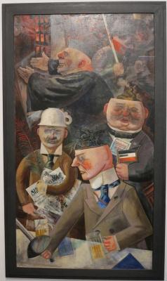 George Grosz. The pillars of society