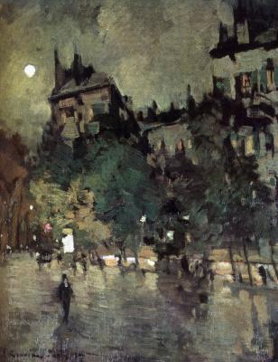 Konstantin Korovin. Paris after the rain