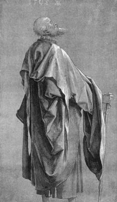 Albrecht Durer. Study of drapery