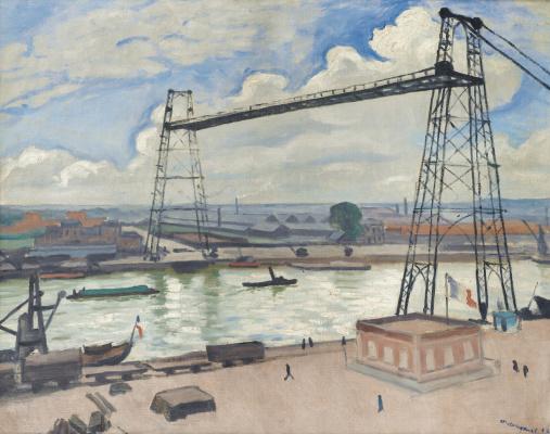 Albert Marquet. Rouen. Transporter bridge