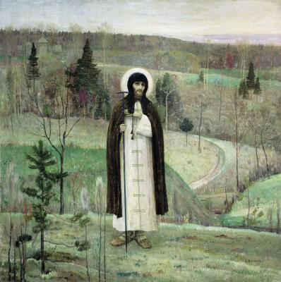 Михаил Васильевич Нестеров. Преподобный Сергий Радонежский