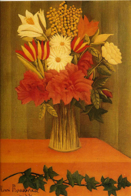Henri Rousseau. The bouquet on the table