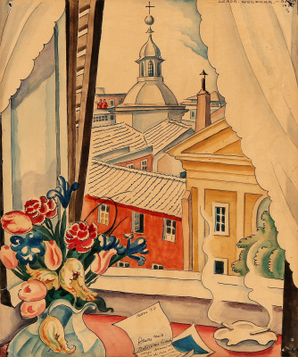 Gerda Wegener. View from the window in Rome