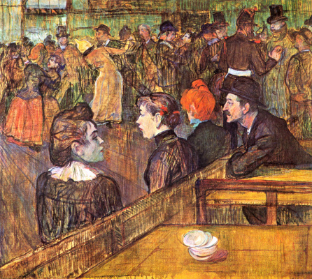 Henri de Toulouse-Lautrec. In the Moulin de la Galette