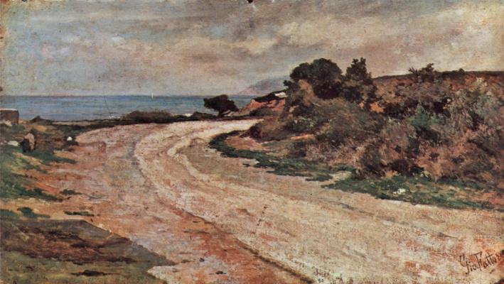 Giovanni Fattori. The road to the coast