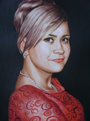 Хельга Эдуардовна Григорьева. The woman in red.