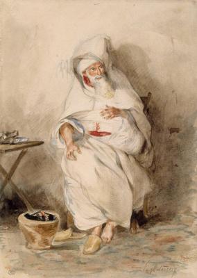 Eugene Delacroix. Portrait of Amina Biasa, Minister of the Sultan of Morocco