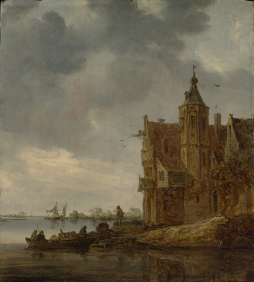 Jan van Goyen. Country house near the water