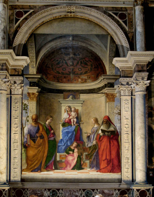 Throne of St. Zechariah. Madonna with the saints