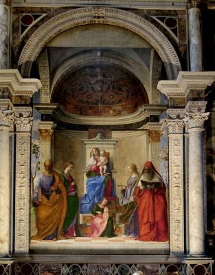 Престол Святого Захария. Мадонна со святыми