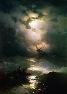 Ivan Aivazovsky. Storm on the North sea