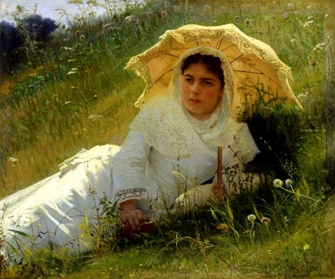 Женщина под зонтиком (В полдень)