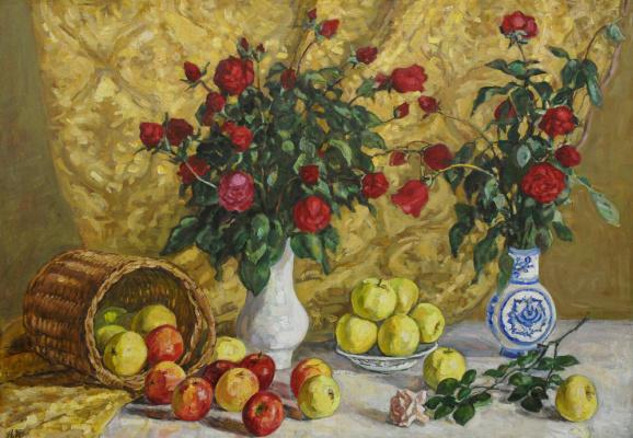 Алла Константиновна Переверзева. Розы и яблоки 2006
