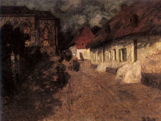 Frits Thaulow. Midnight