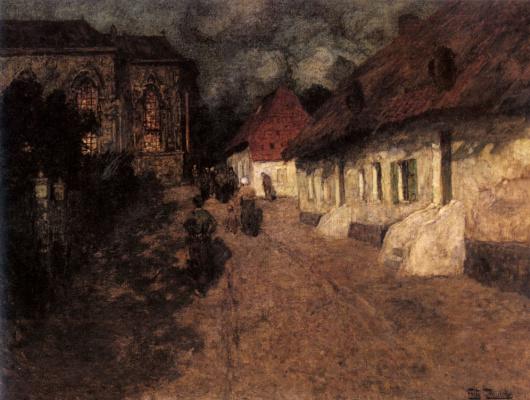 Frits Thaulow. Midnight