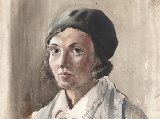 Эвелин Данбар. Автопортрет (фрагмент)