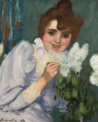 Louis Anketen. Woman with lilac. 1892