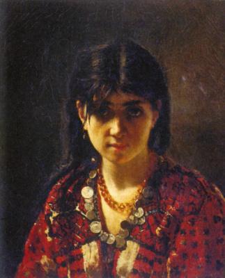 Alexey Alekseevich Kharlamov. Mordovian girl. 1872