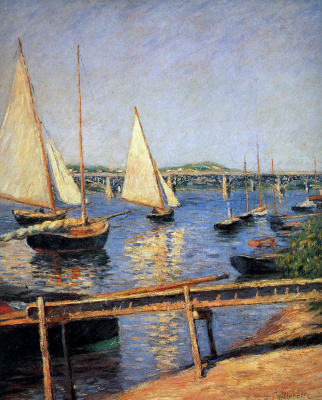 Gustave Caillebotte. Sailing boats at Argenteuil
