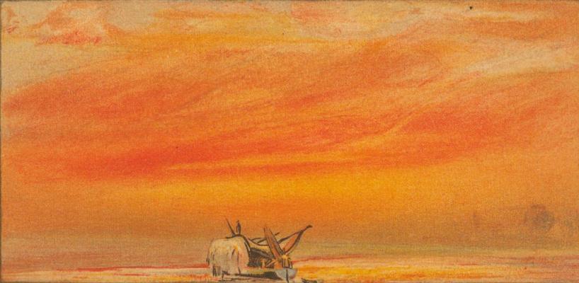William Ascroft. Sky sketch after The Eruption of Krakatoa