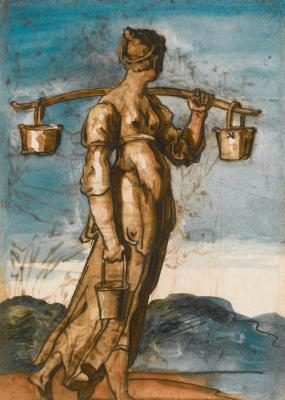 Théodore Géricault. Italian woman carrying water. Etude
