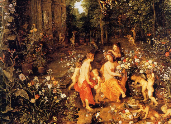 Jan Bruegel The Elder. Flora in the garden