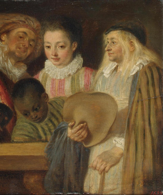 Antoine Watteau. The actors of the French theater. Fragment