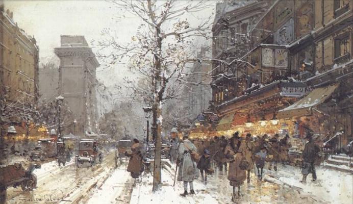 Эжен Галиен-Лалу. Под снегом