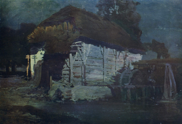 Ivan Ivanovich Trush. Mill at night