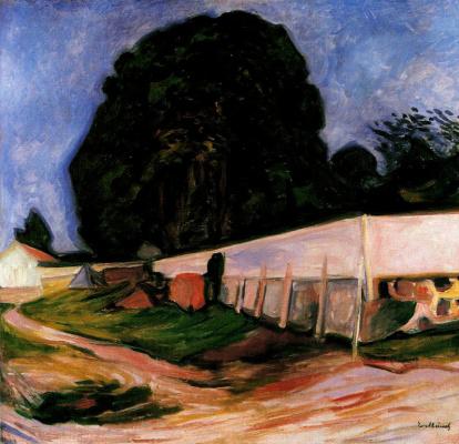 Edvard Munch. Summer night in Asgardstrande