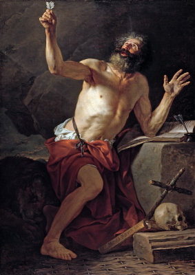 Jacques-Louis David. Saint Jerome Hears the Trumpet of the Last Judgment