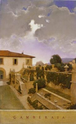 Maxfield Parrish. Villa Gamberaia, Settignano, Italy