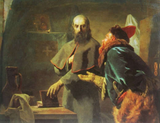 Nikolai Vasilyevich Nevrev. Last minutes of Metropolitan Philip. 1898 70x88