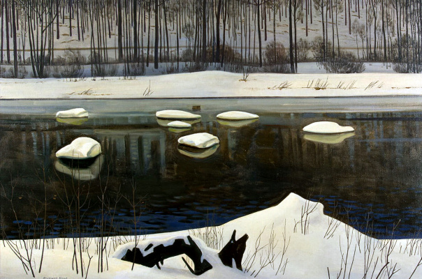Rockwell Kent. The River Sable. Winter