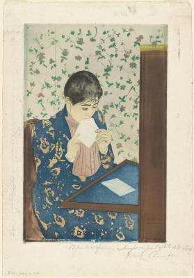 Mary Cassatt. Letter