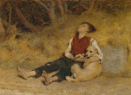 Briton Riviere. His Only Friend