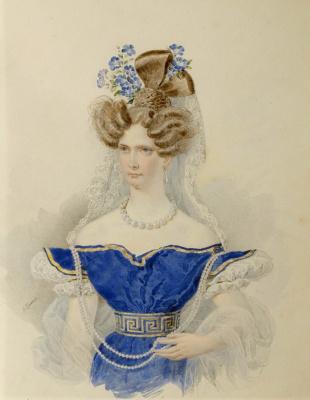 Alexander Pavlovich Bryullov. Portrait of Empress Alexandra Feodorovna