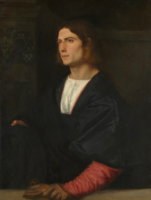Titian Vecelli. Portrait of a young man